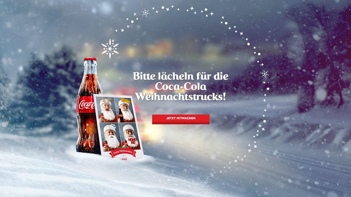 Coca-Cola Kampagne Weihnachts-Selfie 2016 // Kampagnen-Startseite