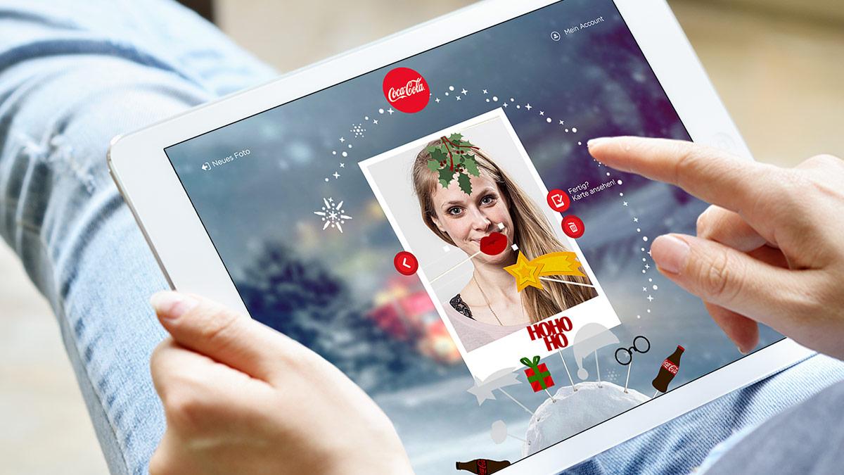 Coca-Cola Kampagne Weihnachts-Selfie 2016 // Deko-Tool zum Schmücken des Selfies