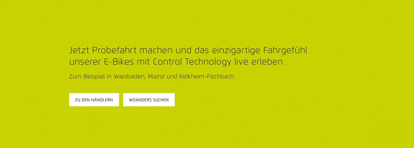 Website Relaunch von Riese & Müller // Das zentrale Element der Website: die Händlersuche